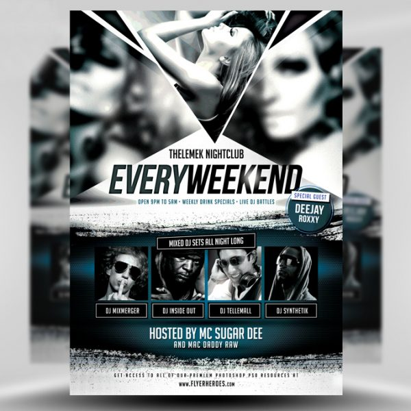 Every Weekend PSD Flyer Template