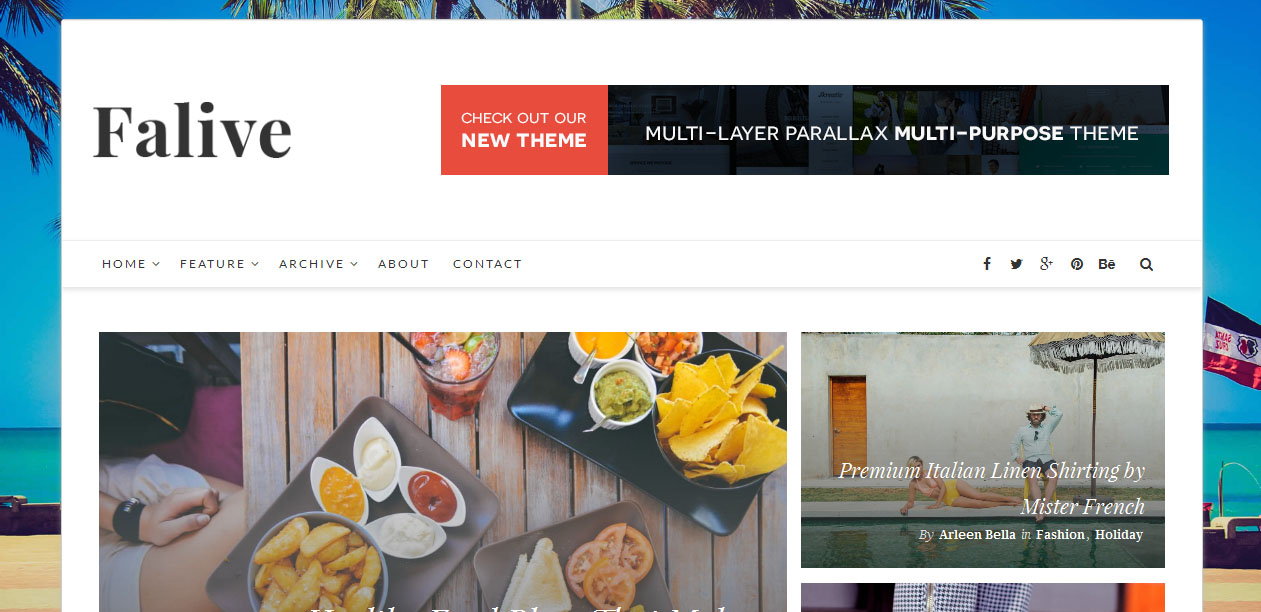 Falive - Female WordPress Themes