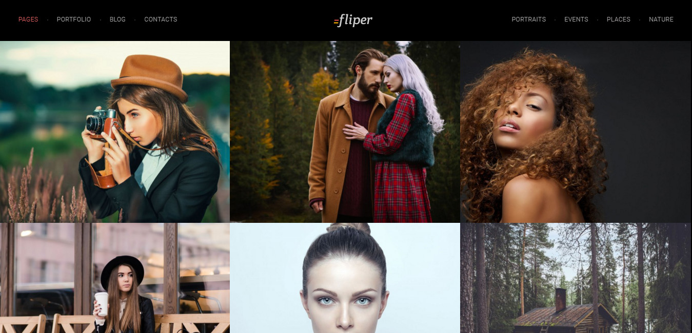 Fliper - Photo Fullscreen WordPress Theme
