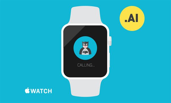 Free Apple Watch Template - Illustrator