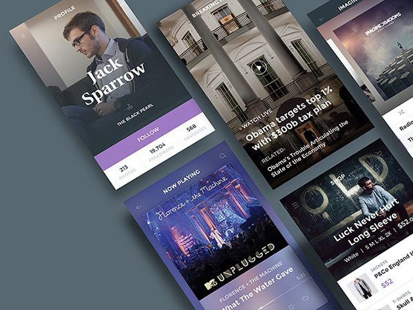 Free Ghost Ship Mobile UI Kit