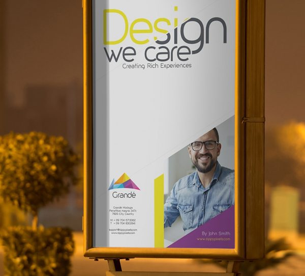 Free Outdoor Roadside Poster PSD