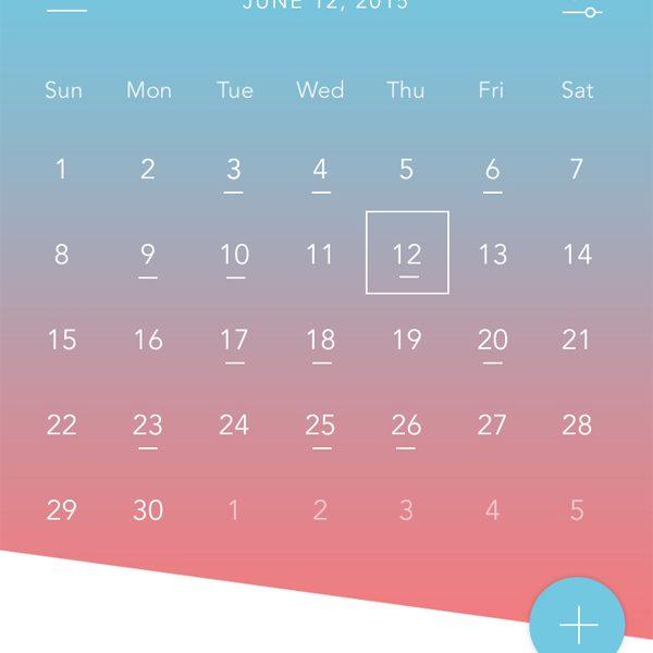 Free PSD - Calendar App