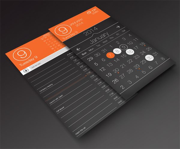 Calendar App Design : Beautiful free calendar templates themecot