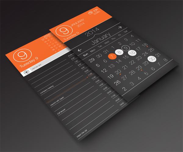 Calendar App Ui : Beautiful free calendar templates themecot