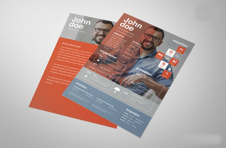 free psd resume cover letter template