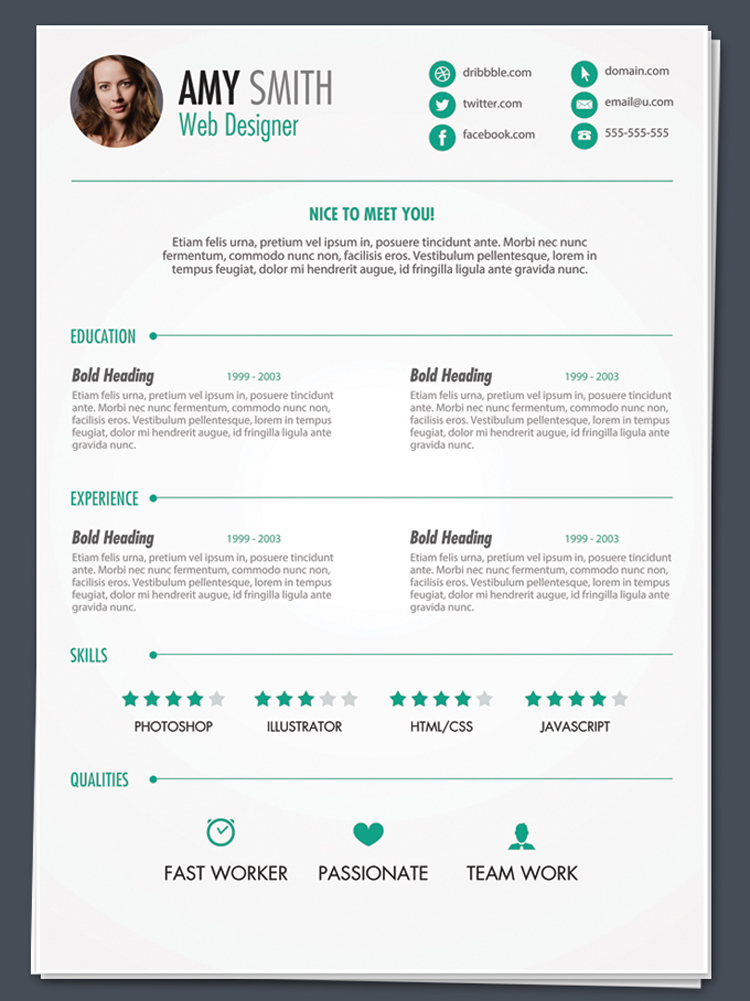 Best Free Resume Design Templates Themecot Design
