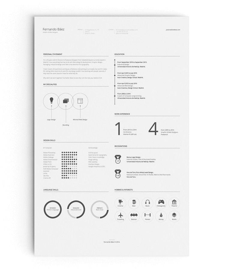 free resume design templates ideas