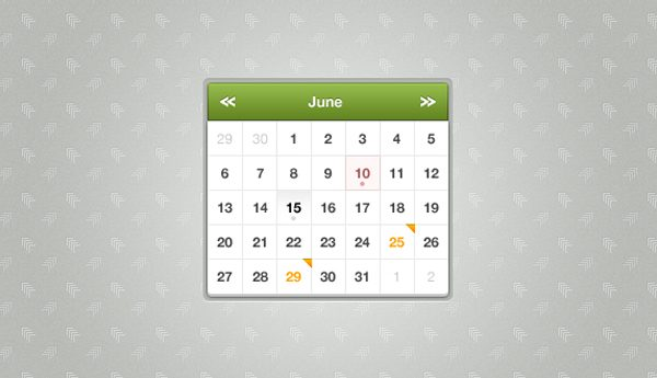 Free Simple Calendar Design Template