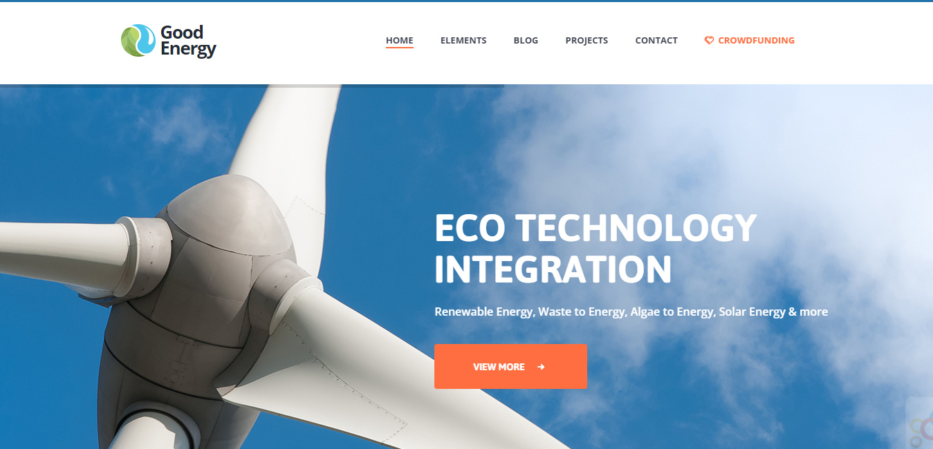 Good Energy - Renewable Energy Company Theme