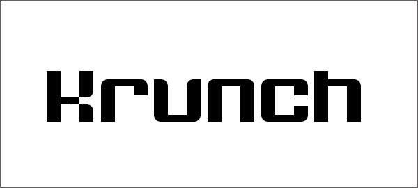 Great Free Krunch Font