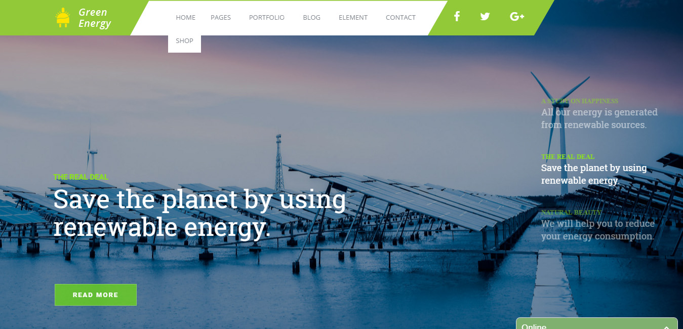 Green Energy - Renewable Energy Company Theme