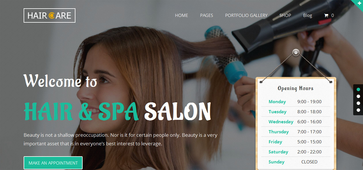 Hair Care - Nail Salon WordPress Themes