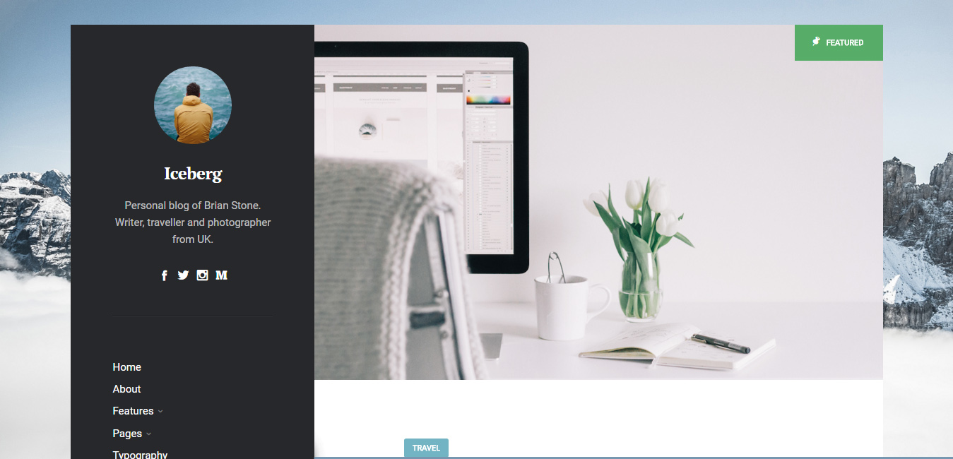 Iceberg - Minimal WordPress Blog Theme