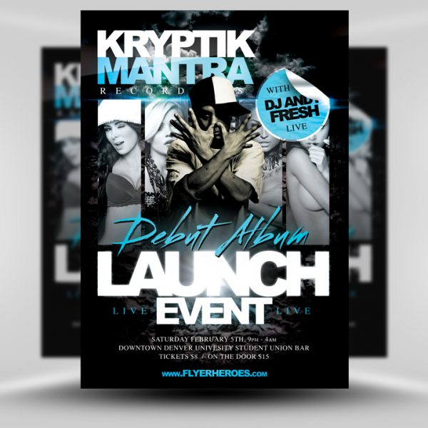 Kryptic Club Flyer PSD Template