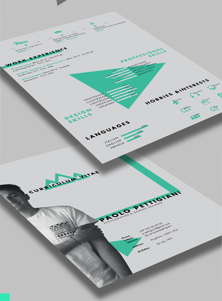 Latest Free CV Design Template