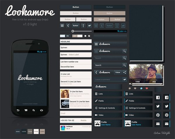 Lookamore - Free Android UI Kits