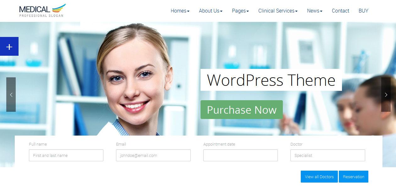 Medical WordPress theme - Doctors WordPress Themes