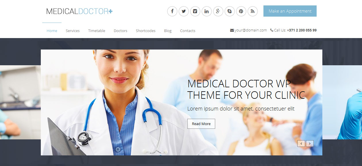 MedicalDoctor - Doctors WordPress Themes