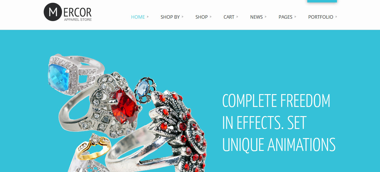 Mercor - Jewelry Shop WordPress Themes