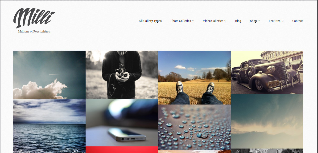 Milli - Photo Gallery WordPress Themes