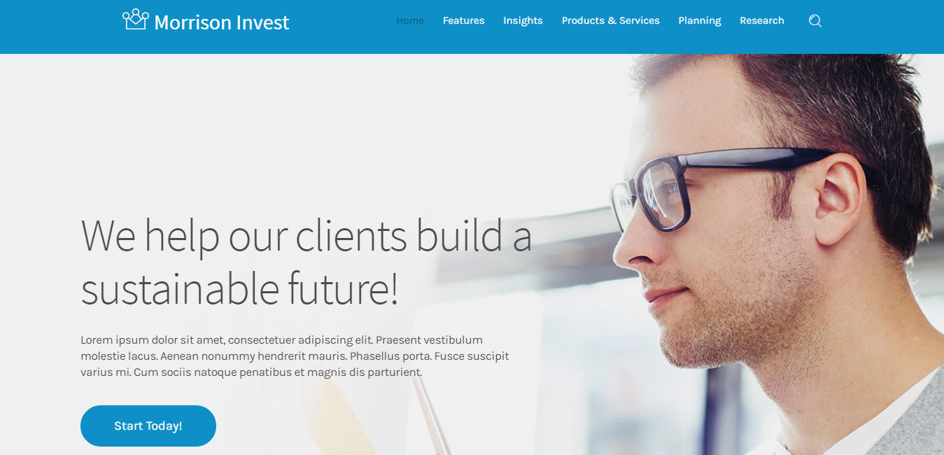 Morrison Invest - Financial Advisor WordPress Theme