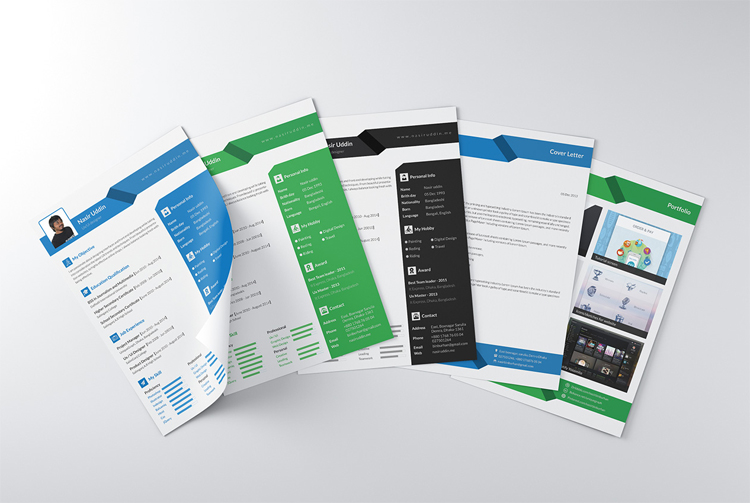 Multi-Page Free Resume Design Templates