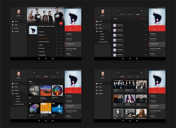 Music UI kit for Android