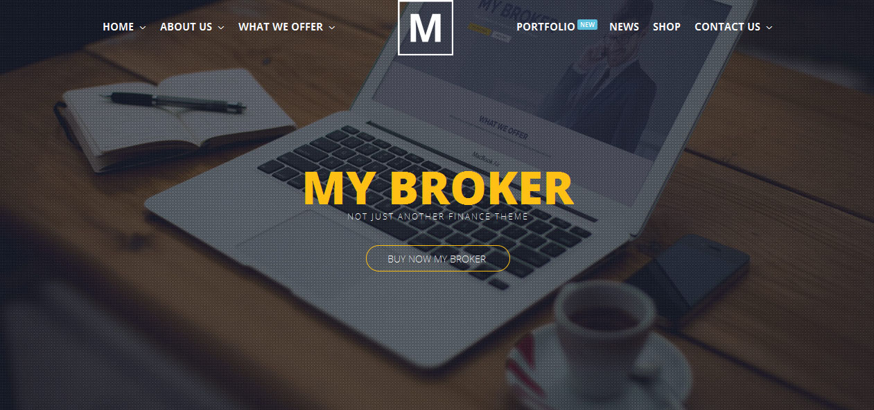 My Broker - Banking WordPress Themes