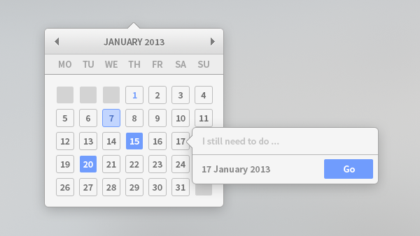 New Free Calendar PSD for Designers