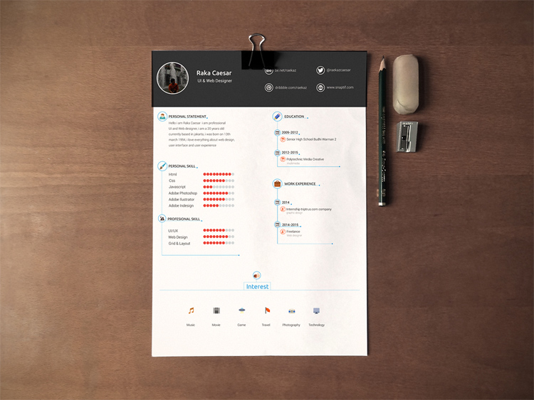 Resume, CV Template U2013 Free Download
