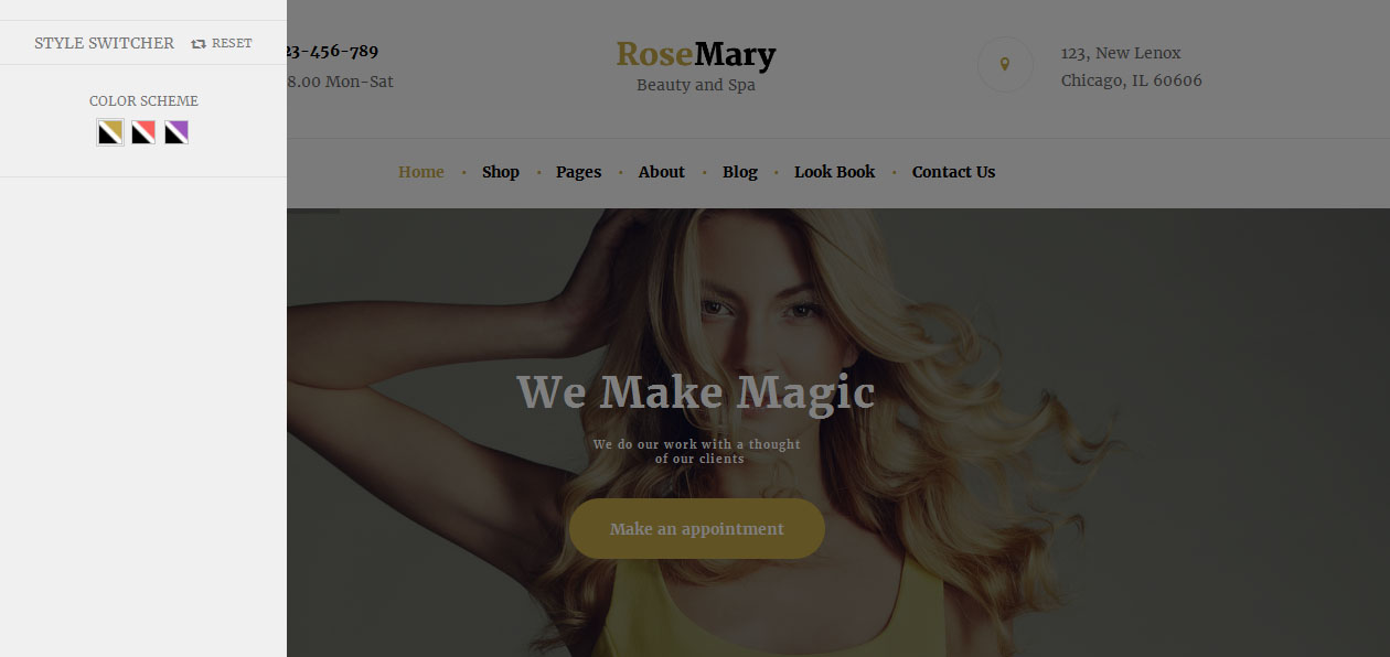 RoseMary - Nail Salon WordPress Themes