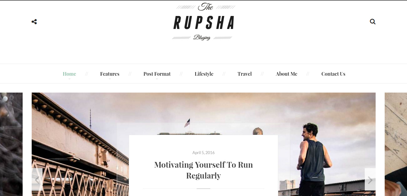Rupsha - Responsive WordPress Blog Theme