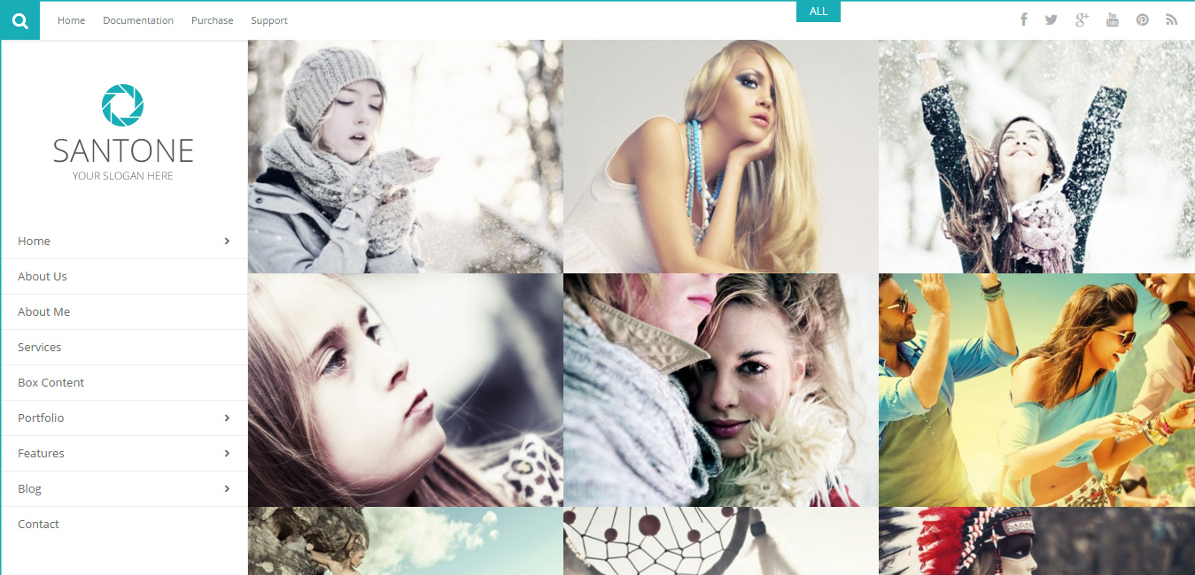 Santone - Clean Portfolio & Photography WP Theme