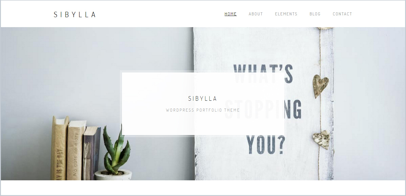 Sibylla - WordPress Portfolio Theme