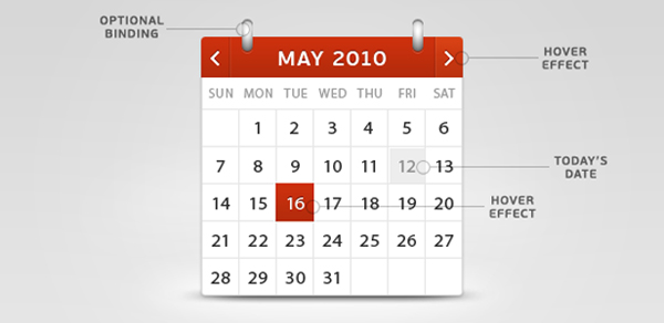 Simple Calendar PSD Template