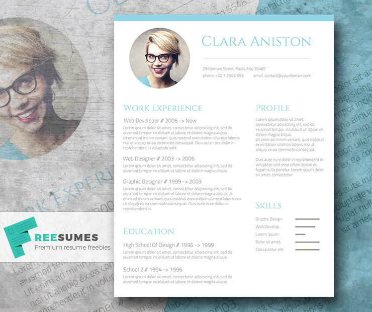 Simple Snapshot - Photo Resume Template