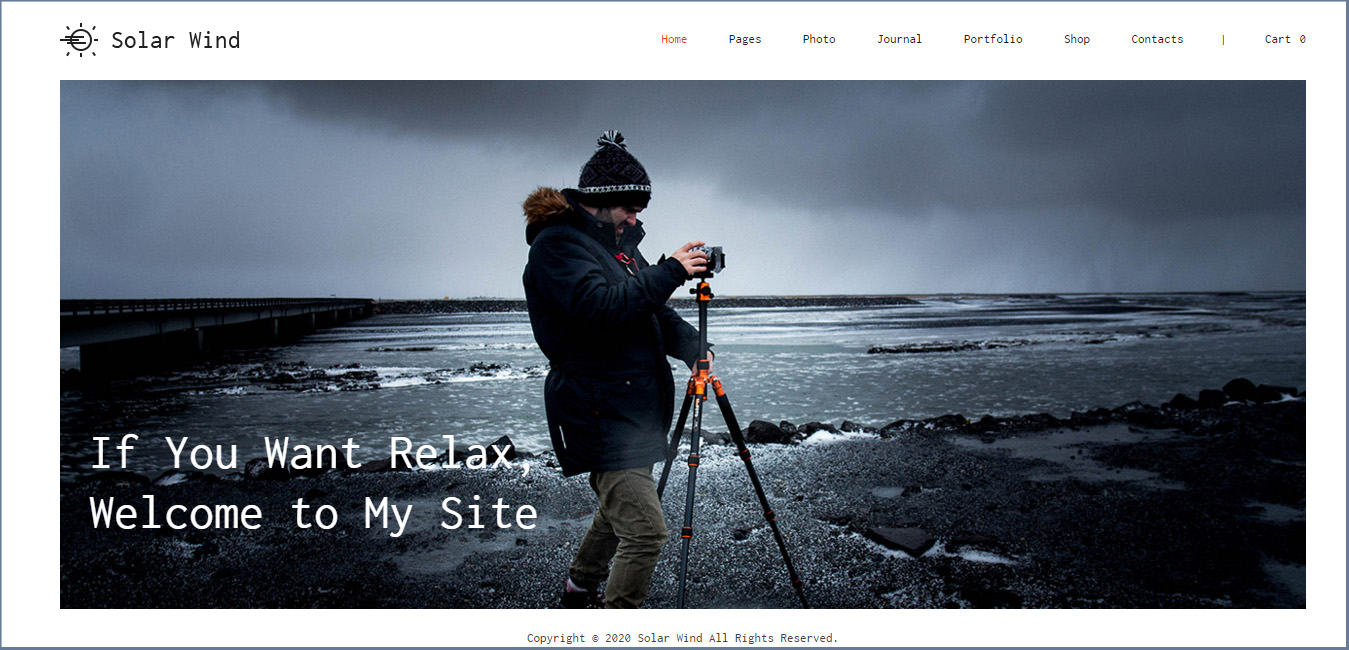 SolarWind - Photography WordPress Theme