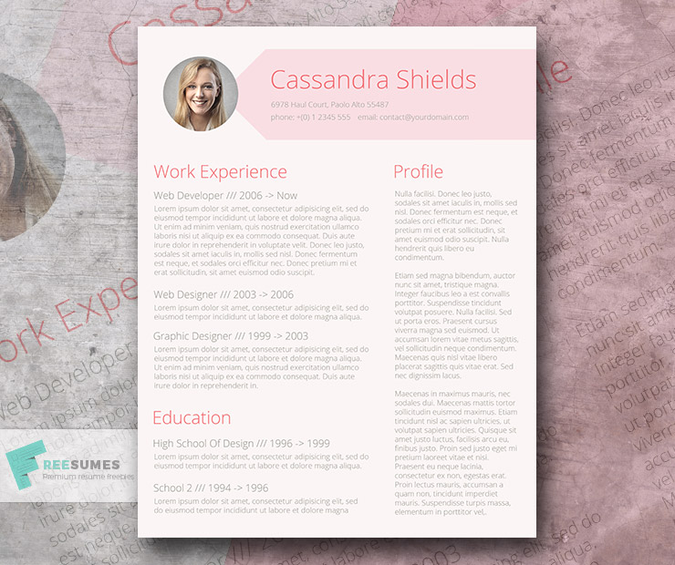 The Pink Resume Template Giveaway
