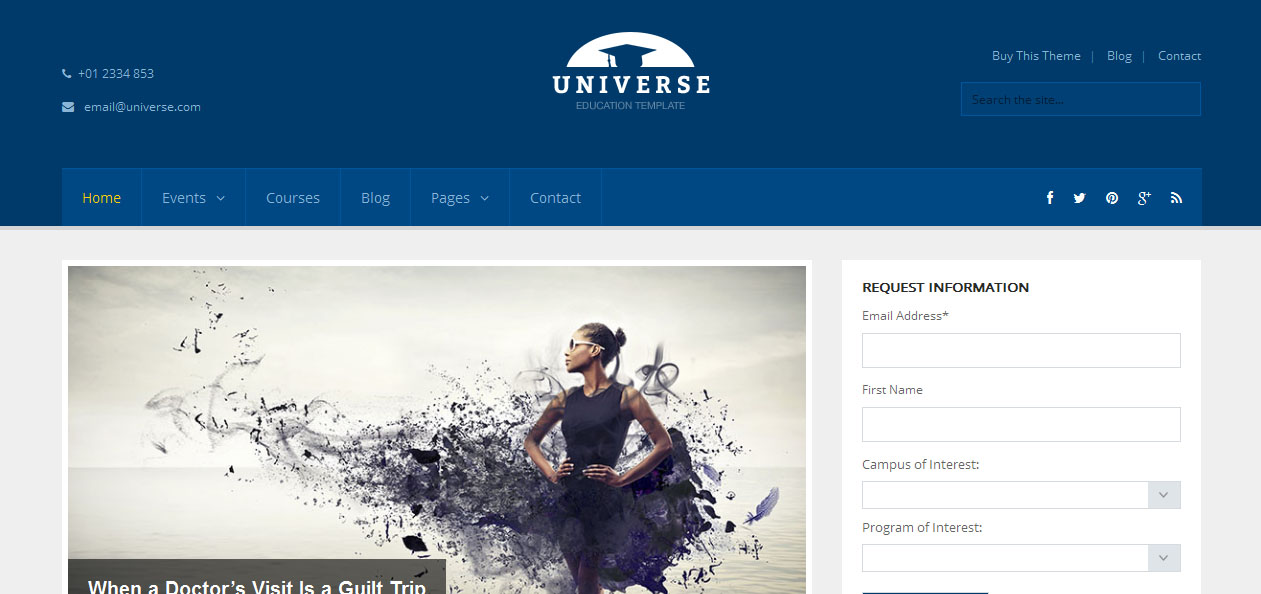 Universe - Academic WordPress Premium Themes