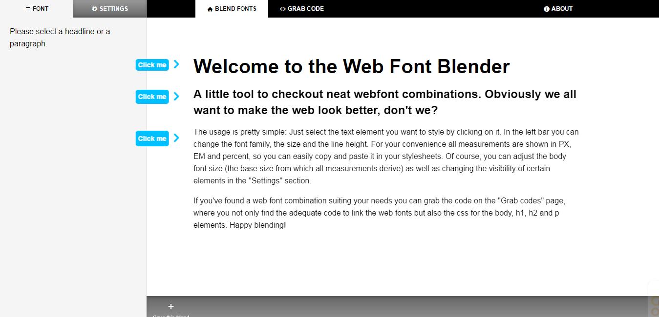 Web Font Blender