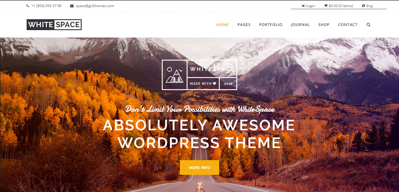 WhiteSpace - Portfolio WordPress Theme