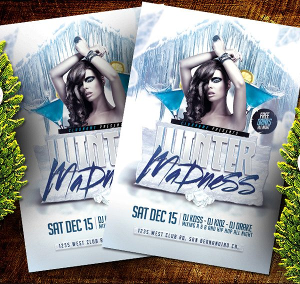 Winter Madness PSD Flyer Template