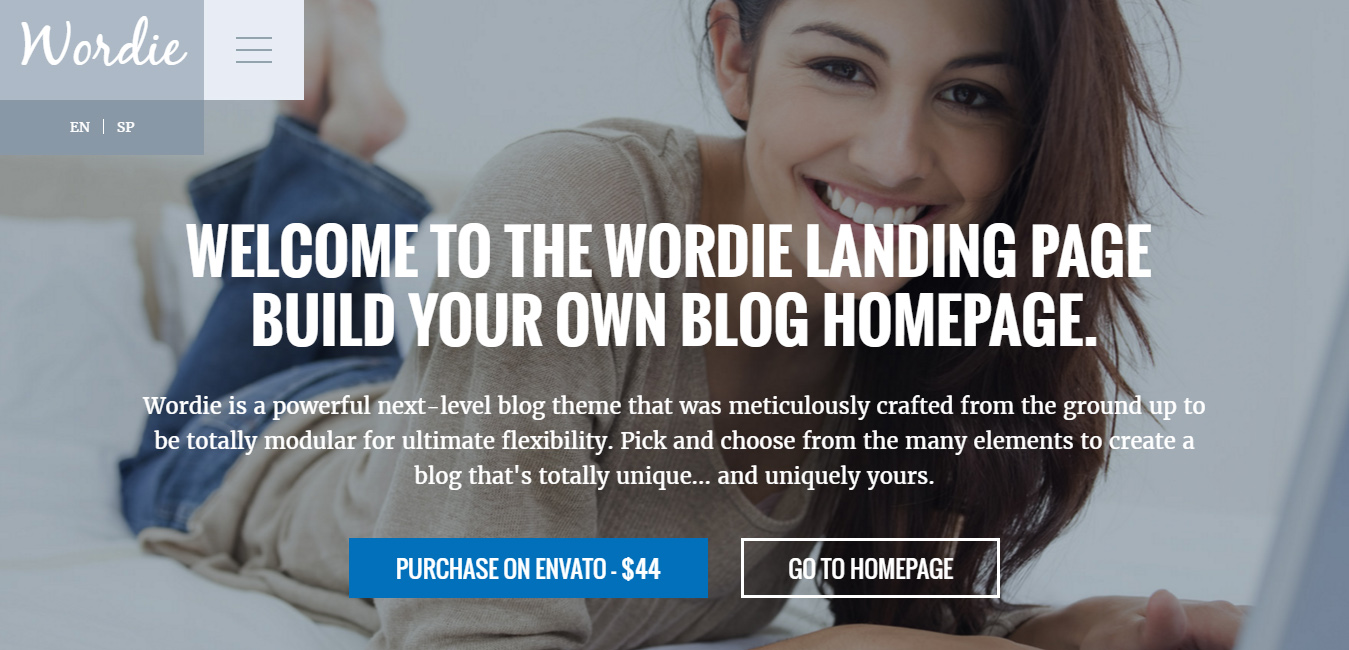 Wordie - Creative WordPress Blog Theme