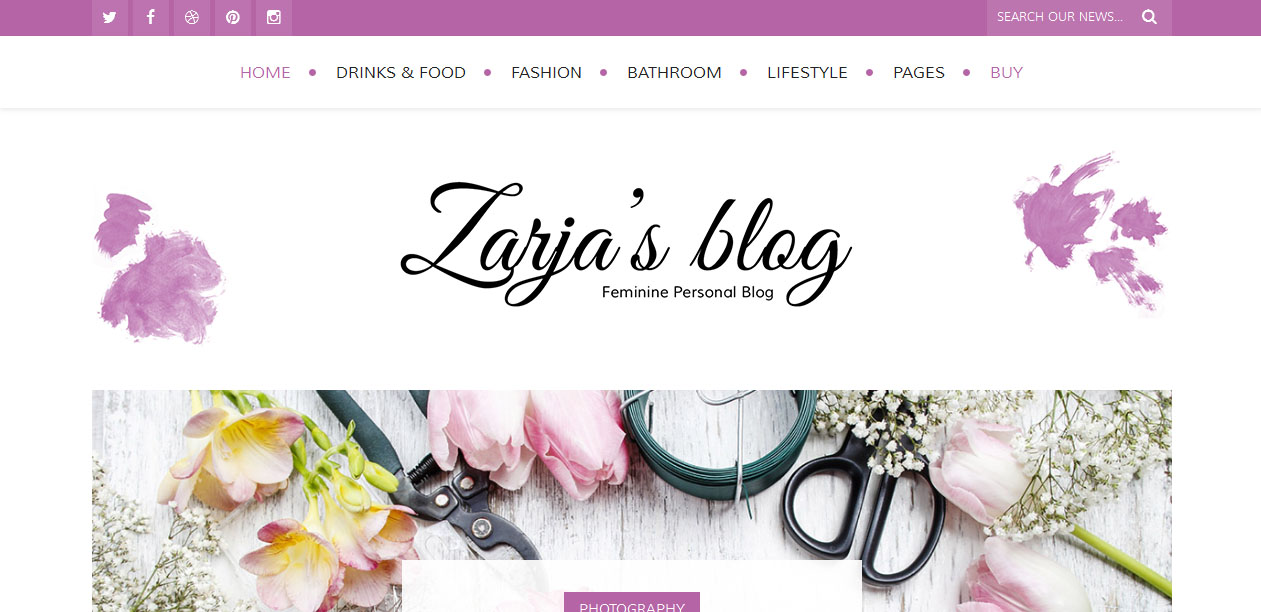Zarja - Female WordPress Themes