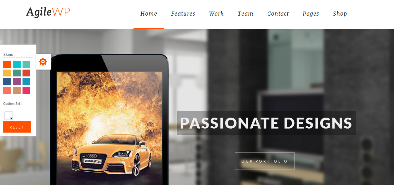 Agile - App Showcase WordPress Themes