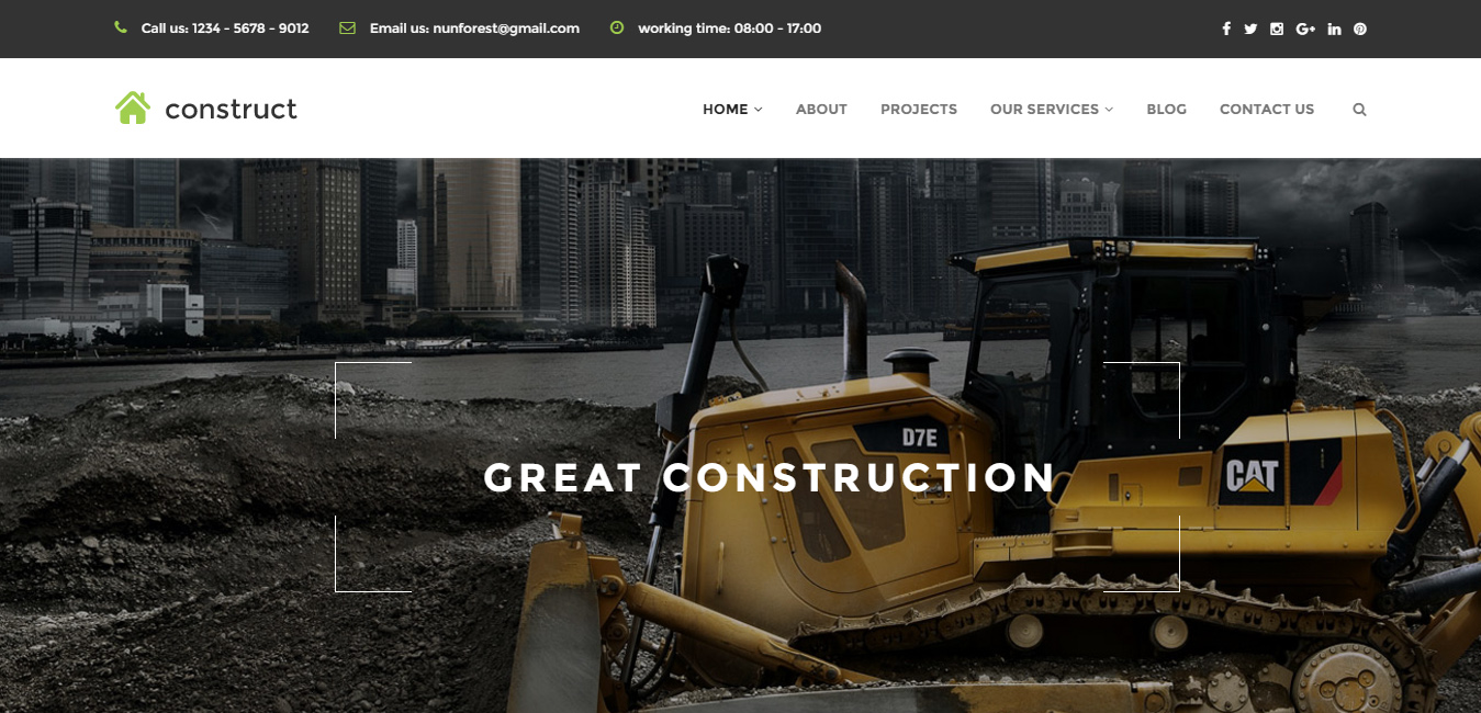 Construct - Construction & Business WordPress Theme