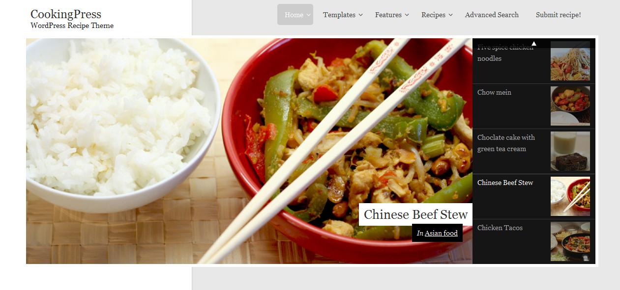 CookingPress - Cooking WordPress Themes
