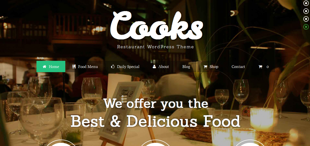 Cooks - Cooking WordPress Themes