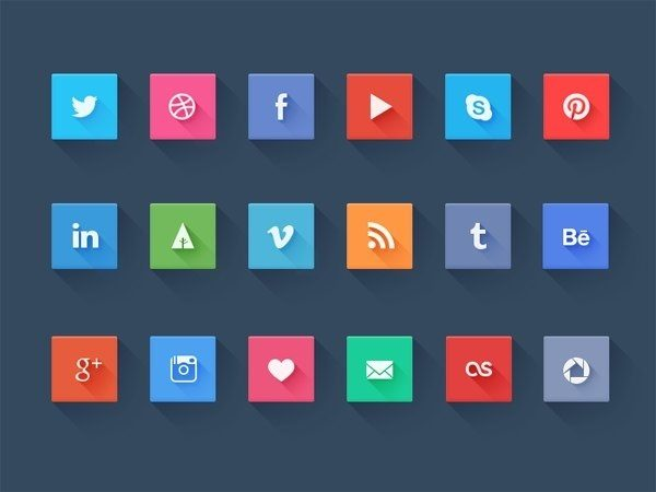 Cool Social Icons - Freebie